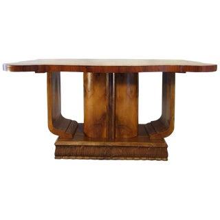 1940s Art Deco Sculptural Butterfly Walnut Burl Veneer Centre Table Base For Sale