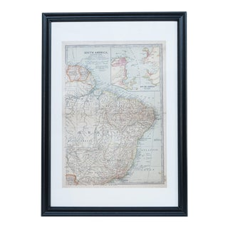 Antique Hand Colored Map of E. South America For Sale
