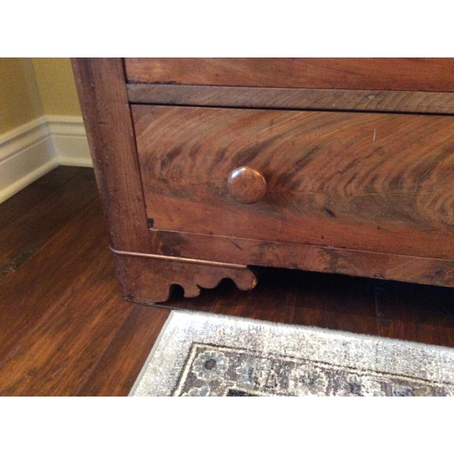 Chestnut 18th Century Antique Writing Cupboard For Sale - Image 8 of 11