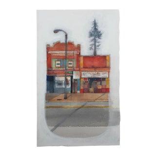 """Mainstreet"" Original Watercolor Painting For Sale"