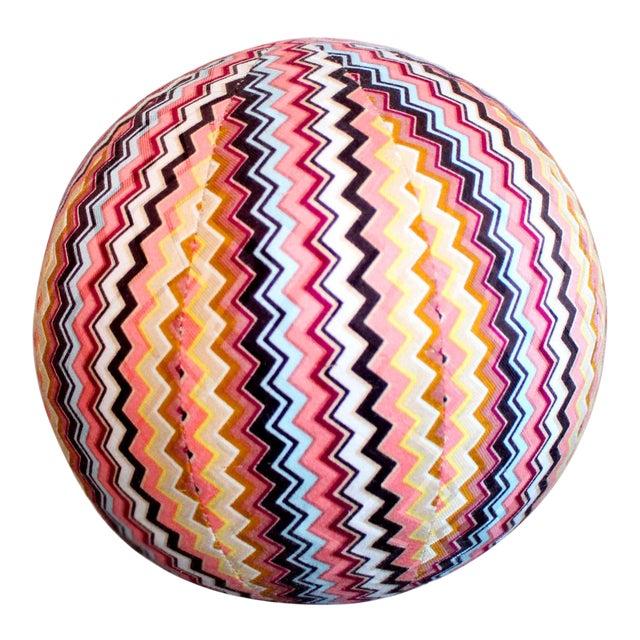 "Vintage Missoni Chevron Pattern Ball Pillow 8"" For Sale"