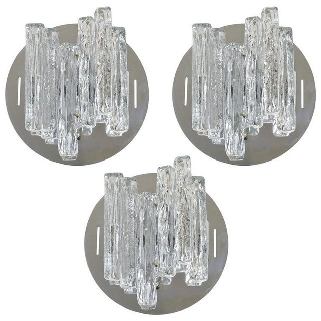 Set of Three Geometric Sconces / Flush Mounts by Salviati For Sale - Image 9 of 9