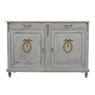 Traditonal French Painted Buffet in Louis XVI - Style For Sale