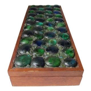 Mid-Century Glass Tiled Wood Box