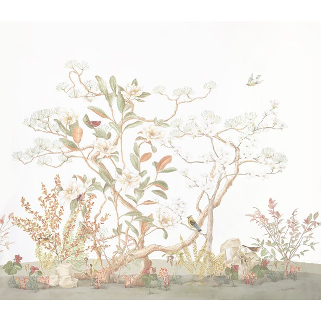 """""""Southern Woodlands"""" Chinoiserie Painting by Allison Cosmos For Sale"""