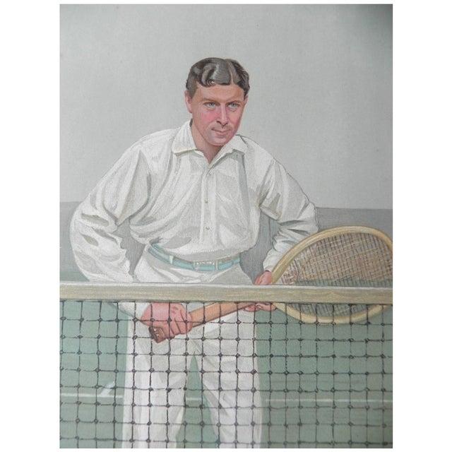 1904 Vanity Fair Tennis Print - Thrice Champion - Image 1 of 2
