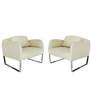 Pair of Donghia Focal Deco Style Lounge Chairs For Sale