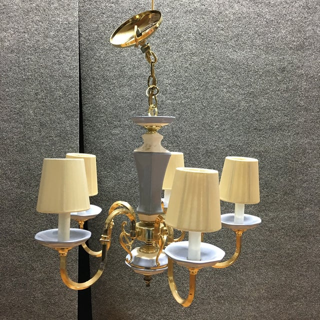 5-Lights With Shades Chandelier - Image 4 of 4