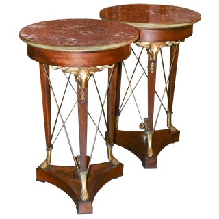 Antique designer empire side tables decaso for Championship table 98 99
