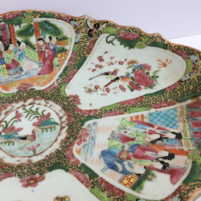 Chinese Canton Famille Rose Serving Platter - Image 7 of 11