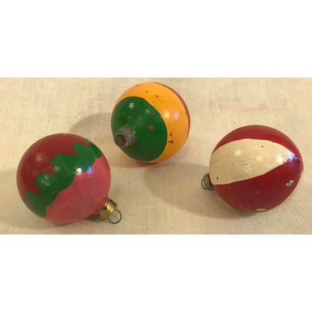 Vintage Glass Holiday Ornaments - Set of 3 For Sale In Dallas - Image 6 of 7