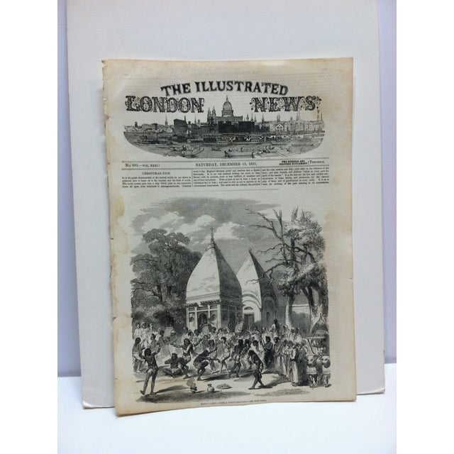 """Mid 19th Century 1857 Antique Illustrated London News """"Hindoo Dance"""" Print For Sale - Image 5 of 5"""