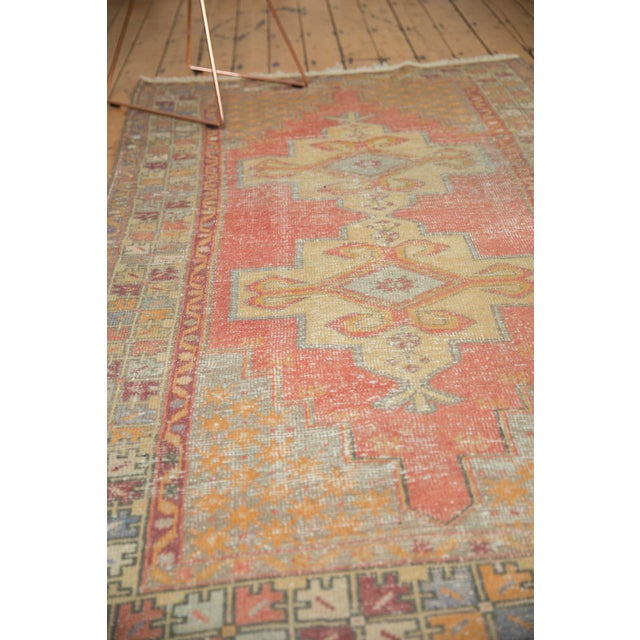 "Cinnamon Vintage Distressed Oushak Rug - 4'7"" x 8'4"" For Sale - Image 8 of 11"
