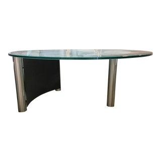Contemporary Retro Glass Coffee Table For Sale