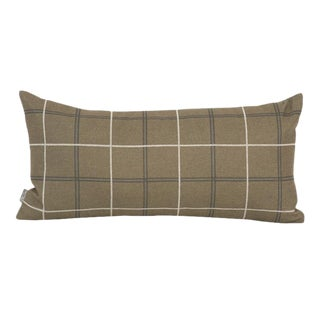 Oxford Moss Plaid Down Pillow For Sale