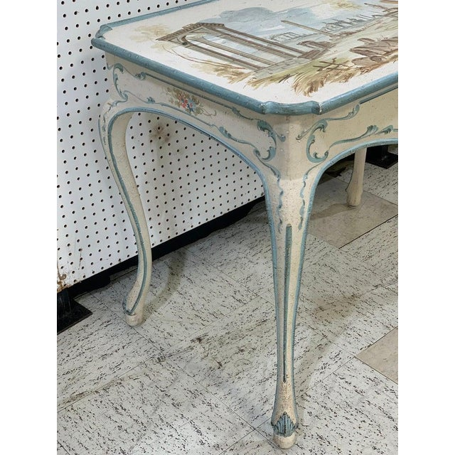 Venetian Painted Table or Desk For Sale In Atlanta - Image 6 of 11