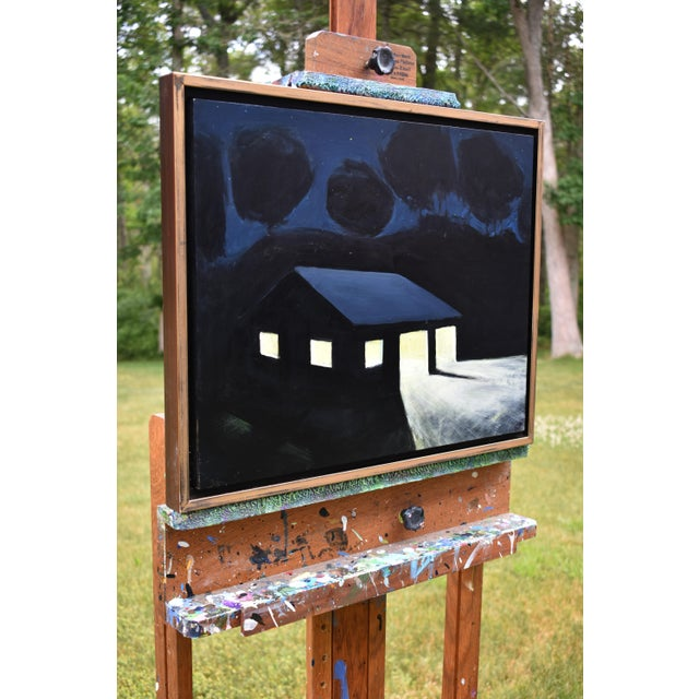 "Acrylic Paint ""Late Night Work"" Painting by Stephen Remick For Sale - Image 7 of 11"