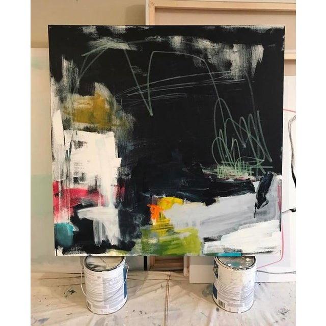 """Sarah Trundle Sarah Trundle """"Westward Ho"""" Contemporary Abstract Painting For Sale - Image 4 of 4"""