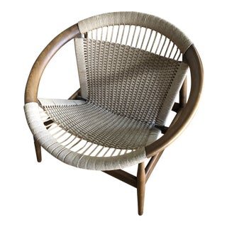 Danish Modern Illum Wikkelso Ringstol Woven Hoop Chair For Sale
