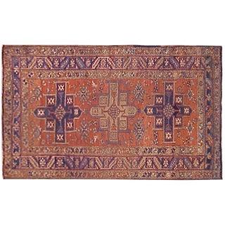 Early 20th Century Antique Persian Heriz Karaja Rug - 6′2″ × 3′4″ For Sale