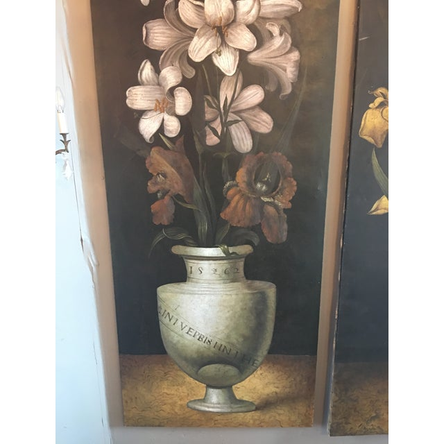 French 19th Century French Monumental Floral Paintings - a Pair For Sale - Image 3 of 7
