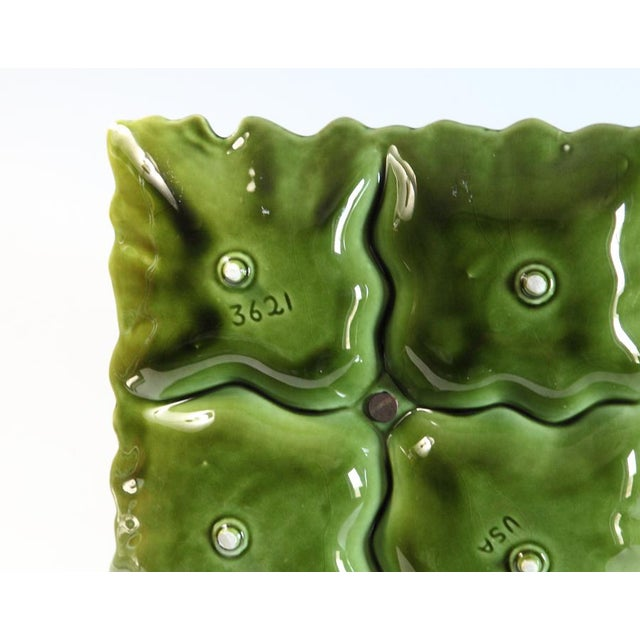 Green Green Tiered Serving Dish For Sale - Image 8 of 8