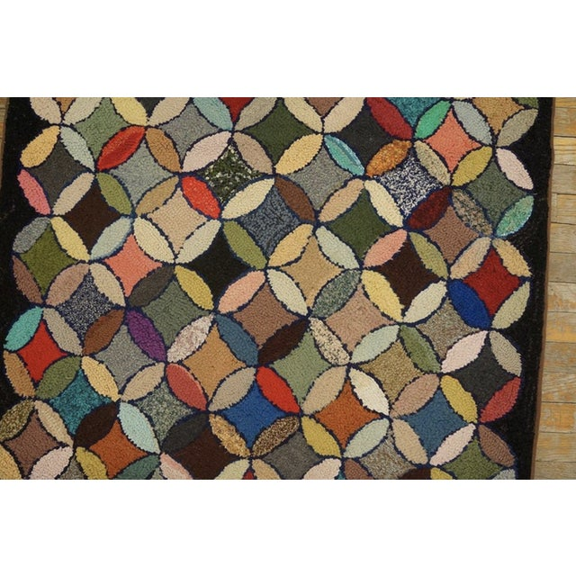 """Antique American Hooked Rug 3'7"""" X 8'9"""" For Sale - Image 10 of 12"""