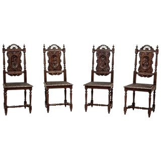Four Brittany Chairs, circa 1880 For Sale