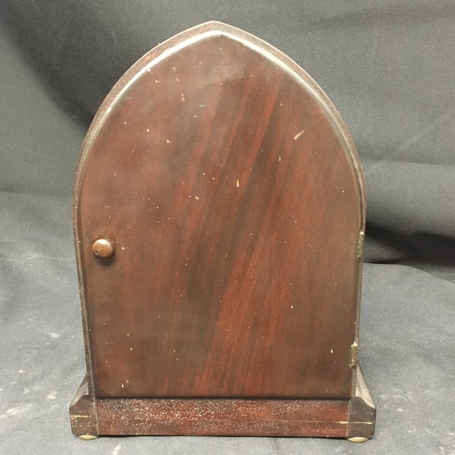 Metal Antique 1910s Seth Thomas Clock Company Wooden Clock For Sale - Image 7 of 13