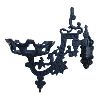Victorian Kerosene Oil Wall Sconce Lamp Holder For Sale