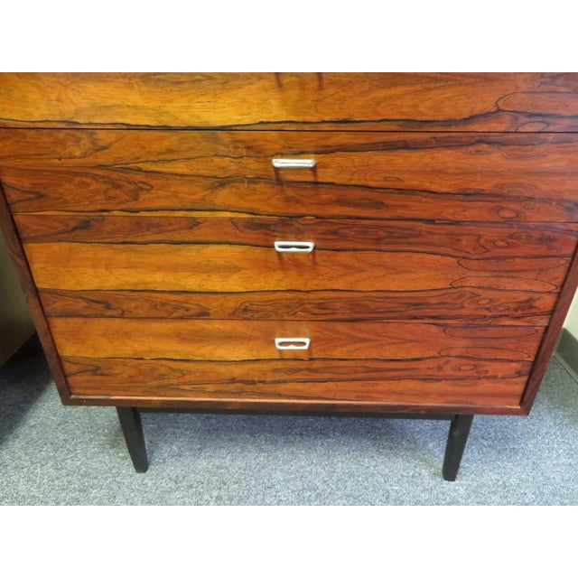 1970s Mid-Century Modern 6-Drawer Rosewood Highboy For Sale - Image 4 of 13