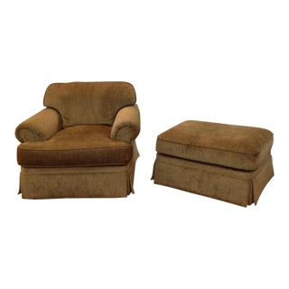 Henredon Fireside Chair With Ottoman - a Pair For Sale