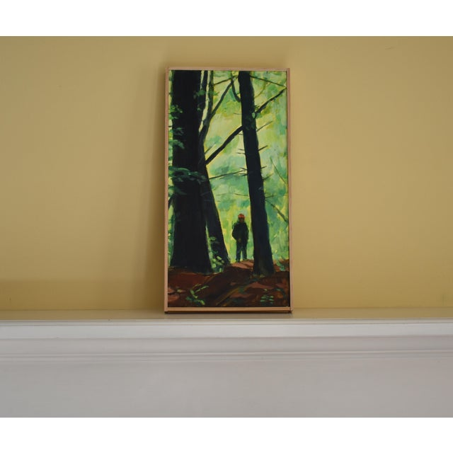 "Contemporary Painting, ""Entering the Forest"", by Stephen Remick For Sale - Image 9 of 10"
