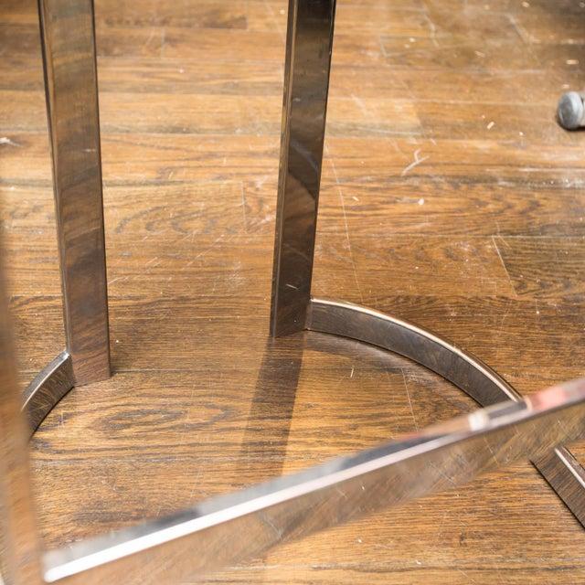 Swaim Designs Chrome Upholstered Bar Stools - Set of 4 - Image 4 of 8