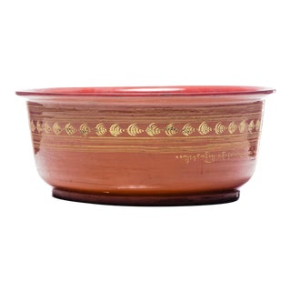19th Century Red Burmese Lacquered Serving Bowl For Sale