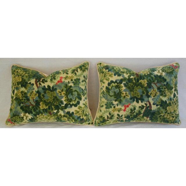 Custom-Tailored Scalamandre Velvet Marly Pillows - Pair - Image 8 of 11
