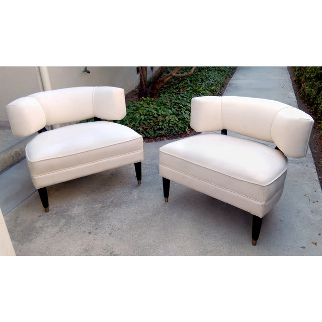 Modern Contemporary Slipper Lounge Chairs - Pair - Image 2 of 10