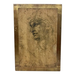 Late 19th Century Antique Italian Framed Print For Sale
