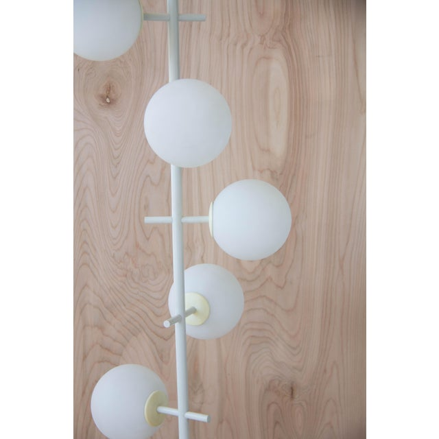 Rare Temde Leuchten Frosted Globes Floor Lamp For Sale - Image 5 of 11