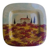 Image of Italian Hand Painted Ceramic Plate For Sale