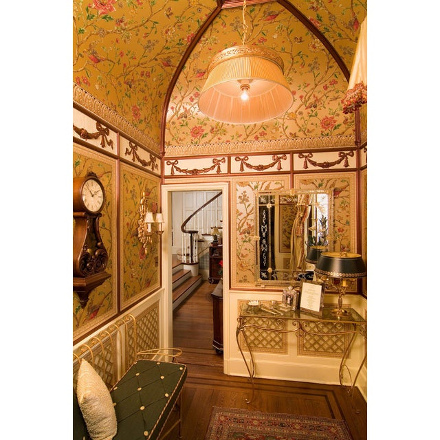 Brass Chandelier Fabric Shade Light - Image 3 of 3