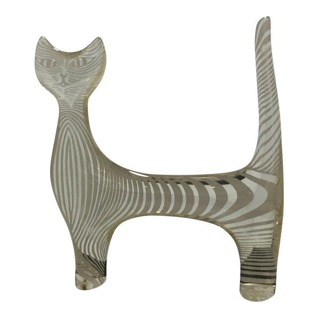 Mid Century Abraham Palatnik Lucite Cat Sculpture For Sale