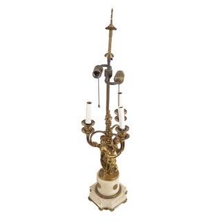 19th Century Louis XVI Gilt Bronze Table Lamp