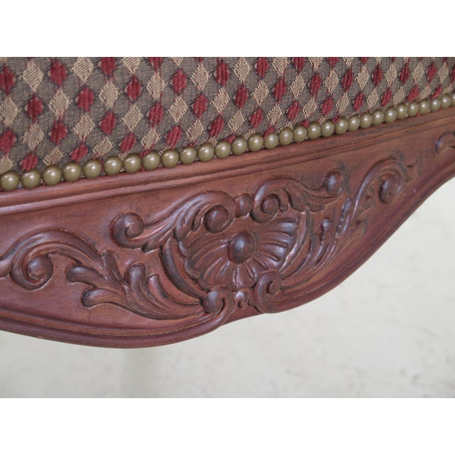 Sherrill French Louis XV Style Upholstered Arm Chair For Sale - Image 9 of 13
