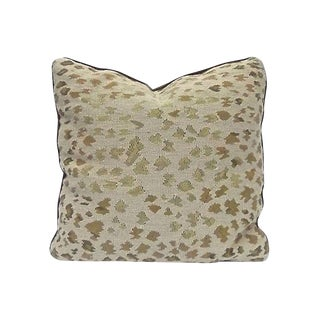 Late 20th Century Needlepoint Leopard Pattern Pillow For Sale