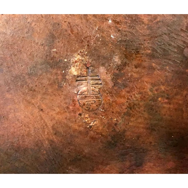 Antique Arts & Crafts Roycroft Hand Hammered Copper Plates - Set of 4 For Sale In Providence - Image 6 of 13