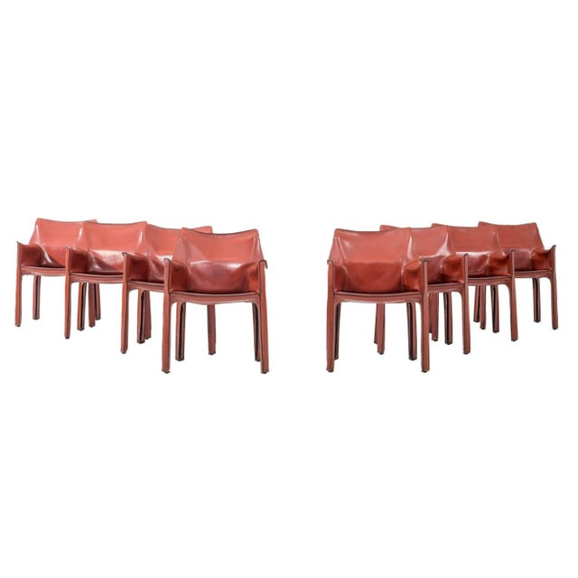 Set of 8 Mario Bellini Dining Chairs For Sale - Image 11 of 11