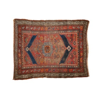 "Antique Kurdish Square Rug - 3'6"" X 4'4"" For Sale"