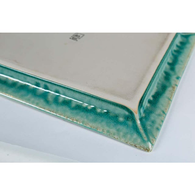 Vintage Crackle-Glaze Ceramic Tray, by Jars, France, Mid-20th Century For Sale - Image 10 of 11