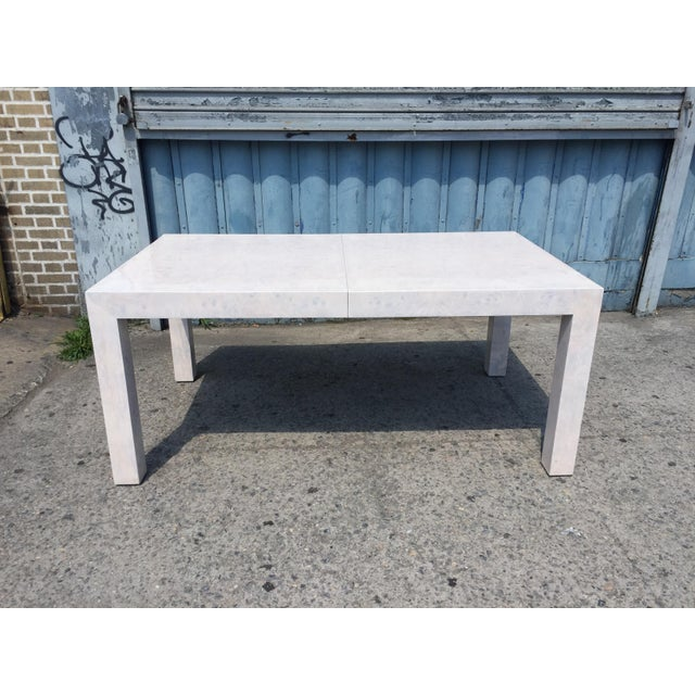 White Whitewashed Milo Baughman Dining Table For Sale - Image 8 of 8